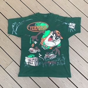 Other - VTG Taz Hot Tempered Camping Tee Sz XL